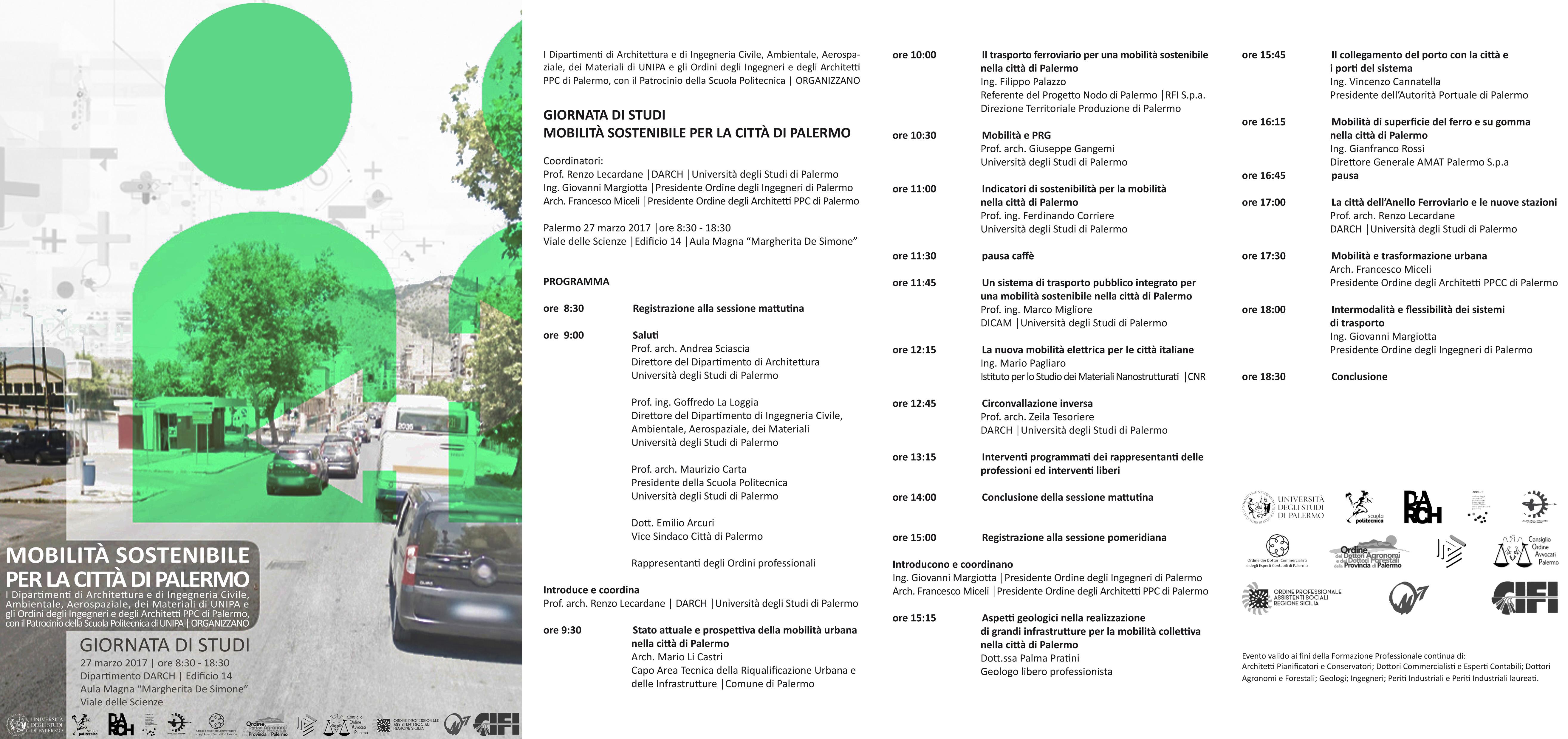 Mobilit sostenibile per la citt di palermo palermo 27 for Mobilita palermo